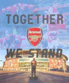 "together ""Arsenal"" we atand"