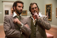 Oscars Nominations 2014: 'American Hustle' showing off the 1970's mens vintage clothing!