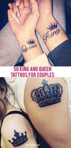 matching tattoos king queen crowns tattoos pinterest rh pinterest com King and Queen Crown Tattoos Drawer king and queen crowns tattoo flash