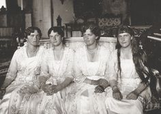OTMA's final formal portraits were taken in the Corner Drawing Room of the Alexander Palace