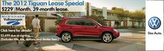 The Perfect Colorado Vehicle! The 2012 VW Tiguan- great lease special going on now at McDonald VW, your Denver Volkswagen dealer!
