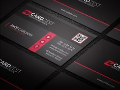 Download » http://cardzest.com/stylish-black-red-corporate-business-card-template/  Stylish Black & Red Corporate Business Card Template  #BusinessCards #businesscardtemplates #psd #freebies #modern #creative #corporate