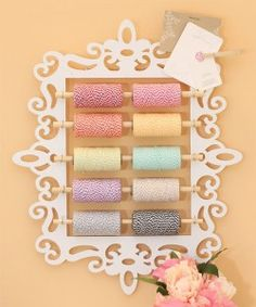 DIY Craft Room Ideas and Craft Room Organization Projects -  Bakers Twine Organizer  - Cool Ideas for Do It Yourself Craft Storage - fabric, paper, pens, creative tools, crafts supplies and sewing notions |   http://diyjoy.com/craft-room-organization