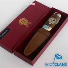 Wallace Clan Crest Officer Sgian Dubh