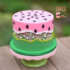 Cakes To Make, How To Make Cake, Pretty Cakes, Cute Cakes, Cake Cookies, Cupcake Cakes, Bolo Cake, Summer Cakes, Cake Trends
