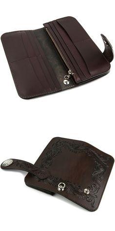 Rakuten: Wallet men gap Dis long wallet long wallet leather leather KC,s Kay chinquapin : Arizona floral riders wallet-free cut- Shopping Japanese products from Japan