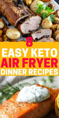 Best easy keto air fryer recipes including chicken, veggies, fish, pork and steak! You will never run out of quick keto dinner ideas with these air fryer keto recipes. keto air fryer 9 Easy Keto Air Fryer Recipes To Make For Dinner Tonight Air Fryer Recipes Low Carb, Air Fryer Recipes Breakfast, Air Fryer Dinner Recipes, Recipes Dinner, Diet Breakfast, Breakfast Ideas, How To Cook Steak, How To Cook Chicken, Cena Keto