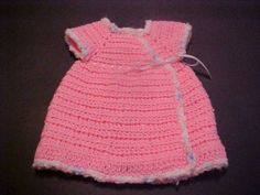 Gods Tiny Angels Patterns: Louisas' wrap Dress G hook & baby yarn will make this newborn. ~ Link correct and pattern is FREE when I checked on March 2015 USA terminology ~ NO size mentioned Baby Doll Clothes, Crochet Doll Clothes, Crochet Dolls, Barbie Clothes, Baby Patterns, Crochet Patterns, Crochet Ideas, Doll Patterns, Dress Patterns