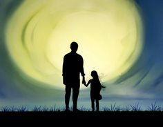 Dad and daughter silhouette by Carrie Anthony on Behance