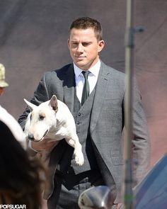 Channing Tatum + dog = double the cuteness!!