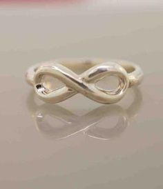 The Mini To Infinity Ring, Promotion from TeriLeeJewelry on Etsy. Saved to Jewelry Case. To Infinity And Beyond, Jewelry Case, Beautiful Rings, Heart Ring, Silver Rings, Girly, Wedding Rings, Engagement Rings, Jewels
