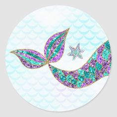 Glitter Mermaid tail Paper Plates Under the sea Paper Plate - paper gifts presents gift idea customize Mermaid Party Favors, Mermaid Theme Birthday, Mermaid Parties, Mermaid Under The Sea, The Little Mermaid, Mermaid Wallpapers, Mermaid Cakes, Thank You Stickers, Paper Gifts