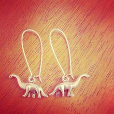 dinosaur earrings by SuperFantasticJulie on Etsy, $12.00