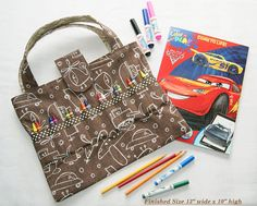 Child Busy Bag Brown Coloring Book And Crayons Markers