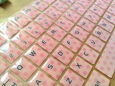 peach Keyboard sticker orange computer Sticker by StickersKingdom Laptop Keyboard Stickers, Computer Cover, Alphabet Stickers, Desktop Computers, Light Orange, Peach, Handmade, Macbook Pro, Laptops