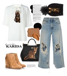 """Fratelli Karida: II"" by teryblueberry ❤ liked on Polyvore featuring Dolce&Gabbana, Deborah Lippmann, NARS Cosmetics, Ash, R13 and Bobbi Brown Cosmetics"