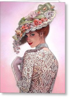 The Look Of Love Greeting Card by Sue Halstenberg