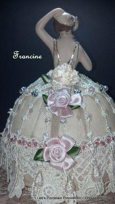 Francine Porcelain Half Doll Pincushion by leesvintagetreasures