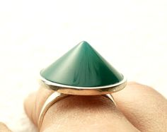 Hey, I found this really awesome Etsy listing at https://www.etsy.com/il-en/listing/126902153/green-agate-cone-ring