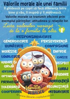 Valorile morale ale unei familii Romanian Language, Positive Discipline, Good Mental Health, Emotional Intelligence, Kids Education, Social Platform, My Children, Kids And Parenting, Preschool