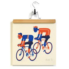 Bicycle Race is a new risograph print, printed by the riso maestros at the KNUST printing house. It's available (limited edition of 30...