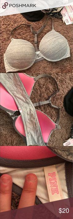 Pink vs bra Push up only wore twice PINK Victoria's Secret Intimates & Sleepwear Bras