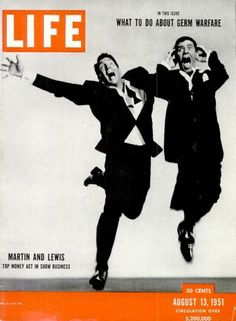 Philippe Halsman—Life Magazine  August 13, 1951, cover of LIFE magazine featuring Dean Martin and Jerry Lewis