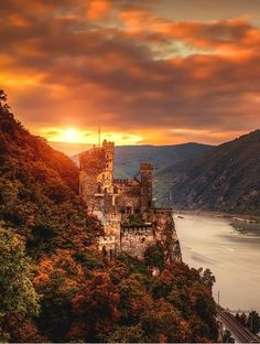 At the Rheinstein Castle in Rhineland-Palatinate, Germany. (Beauty World) #Castles  Germany Castles  Access Our Blog find much more Information  http://storelatina.com/germany/travelling  #viagemgermany #traveling #Alemanha
