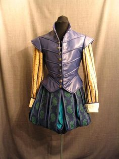 purple leather doublet