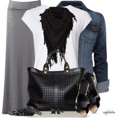 """Maxi Skirt For Fall!"" by angkclaxton on Polyvore"