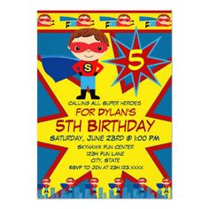 Custom Superhero Kids Boys Birthday Party Invitation Blue created by CustomPrintedInvites. This invitation design is available on many paper types and is completely custom printed. Made in 24 hours. Superhero Birthday Invitations, Superhero Birthday Party, Boy Birthday Parties, Birthday Ideas, Blue Birthday, Birthday Bash, Happy Birthday, Superhero Kids, Blue Superhero