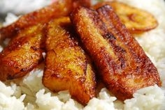 Literally my favorite food in the entire world!  Fried plantains - from breakfast to dinner, they go with everything!