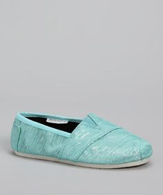 Take a look at this Blue Shimmer  Slip-On Shoe by Sparkly Steps: Girls' Shoes on @zulily today!