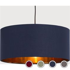 Hue Pendant Shade, Navy & Copper from Made.com. Metallic/Blue. Express delivery. Inspired by glamorous hotel lobbies, Hue maximises the ambience and..