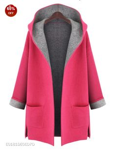 Large Size womens winter jackets and woolen coats hooded cardigan Windbreaker manteau femme show thin abrigos mujer Long Hooded Coat, Hooded Cardigan, Long Coats, Hooded Jacket, Hooded Coats, Long Cardigan, Loose Sweater, Cashmere Cardigan, Knit Cardigan