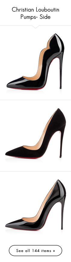 Designer Clothes, Shoes & Bags for Women Black Patent Leather Shoes, Black Pumps Heels, Patent Shoes, High Heel Pumps, Christian Louboutin Heels, Louboutin Pumps, Shoe Bag, Polyvore, Shelf