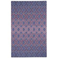 Capel Rugs Kevin O'Brien Rossio Purple Hand Tufted Wool Rug CA9197400