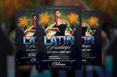 Latin Fridays Flyer Template by Creative Waffle on Creative Market