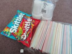 A fun Skittles game you can use at any party.  It can get pretty competitive!