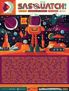 Sasquatch! Music Festival Lineup for Memorial Day Weekend May 22-25, 2015   Music Festivals, rock, rap, alternative, Dance, @LOAR_Music, #LOAR   LOAR