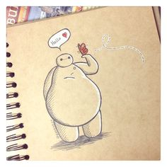 Baymax with a Butterfly by DeeeSkye.deviantart.com on @DeviantArt