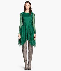 H&M Vestido de encaje manga larga $999