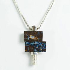 Opal Nut & Bolt Necklaces // Urban Boulder. boulder opal #jewelry