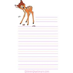 Jacot Jacot Crowson-Atkinson look at this! Let's be pen pals and write each other on Disney stationary! Printable Lined Paper, Free Printable Stationery, Printable Recipe Cards, Kawaii Stationery, Stationery Paper, Pocket Letter, Disney Scrapbook, Scrapbooking, Kids Diary