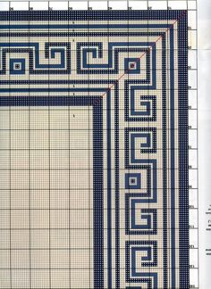 Tiny Cross Stitch, Cross Stitch Borders, Cross Stitching, Cross Stitch Embroidery, Geometric Rug, Tapestry Crochet, Bargello, Brick Stitch, Embroidery Stitches