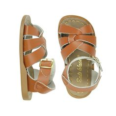 The Salt Water Original is the sandal that started the Salt Water tradition. Crafted with a Littleway stitched leather sole, extra-thick high grade leather uppe Little Girl Closet, Vans Slides, Toddler Sandals, Children's Boutique, Brass Buckle, Stitching Leather, Salt And Water, Baby Girl Fashion, Shoe Shop