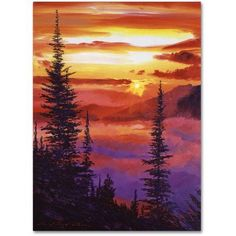 Trademark Global David Lloyd Glover 'Golden Moment' Canvas Art - 14 x 19 Landscape Art, Landscape Paintings, Nature Paintings, Canvas Painting Nature, Beautiful Paintings Of Nature, Watercolor Paintings, Painting & Drawing, Art Abstrait, Oil Paintings