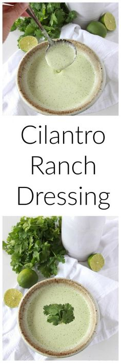 Cilantro Ranch Dressing is always a favorite for any salad! www.cookingwithru...