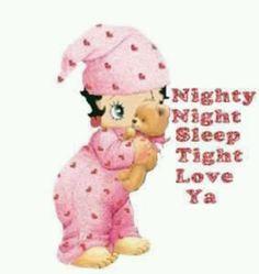 Boop good night bettyboop boards bedtime betty betty boop baby betty