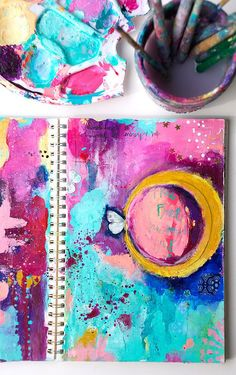 Stampington and Co. - Art Journal Tutorial by Guest Artist Mary Wangerin - like the tutorial and colors.